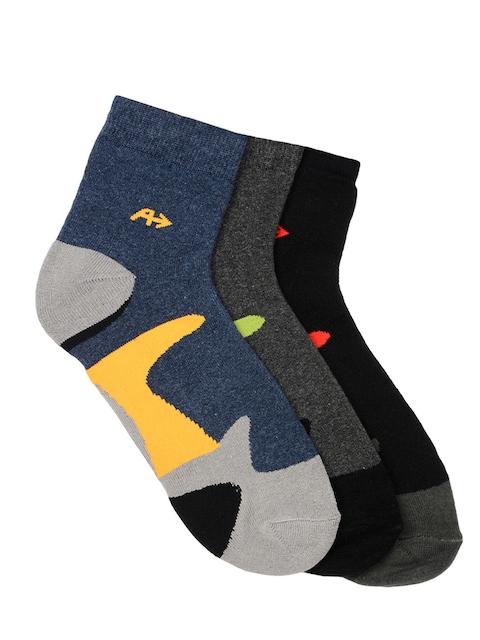 Arrow Men Pack of 3 Ankle-length Patterned Socks