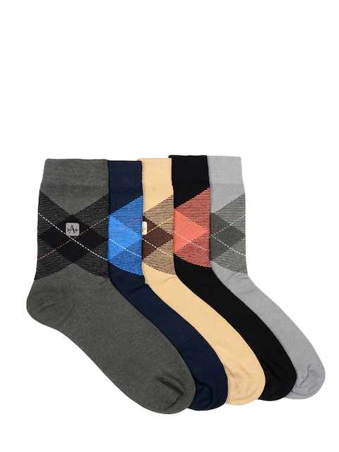 Arrow Men Pack of 5 Ankle-length Patterned Socks