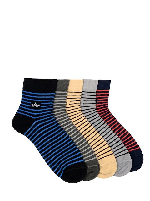 Arrow Men Pack of 5 Ankle-length Striped Socks