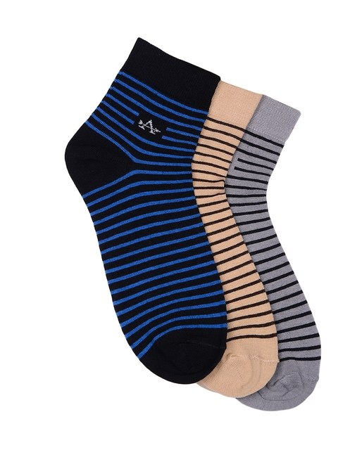 Arrow Men Pack of 3 Ankle-length Striped Socks