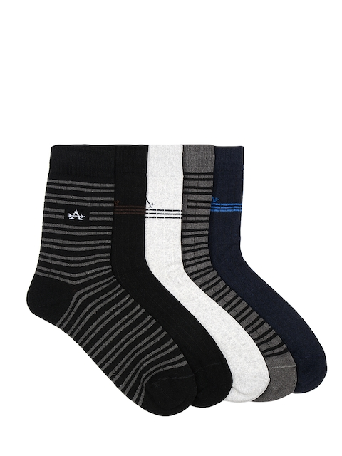 Arrow Men Pack of 5 Calf-length Striped Socks