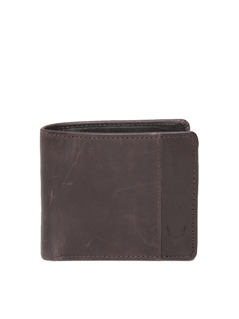 Hidesign Men Brown Solid Handcrafted Natural Leather Two Fold Wallet