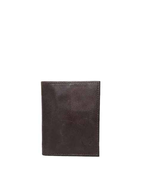 hidesign Men Brown Leather Card Holder  available at myntra for Rs.767