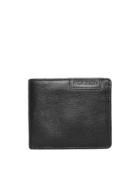 Hidesign Men Black Two Fold Leather Wallet