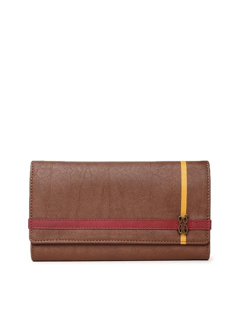 Baggit Women Tan Brown Three Fold Wallet