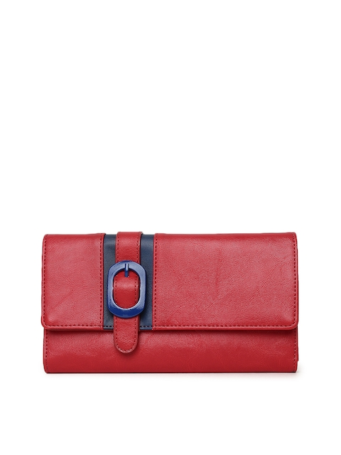 Baggit Women Red Three Fold Wallet