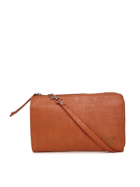 Baggit Women Rust Brown Zip Around Wallet