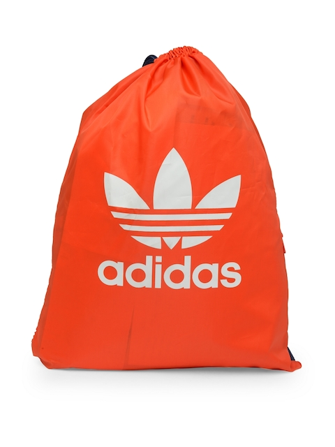 Adidas Originals Unisex Orange Gymsack Trefoil Brand Logo Backpack  available at myntra for Rs.1599
