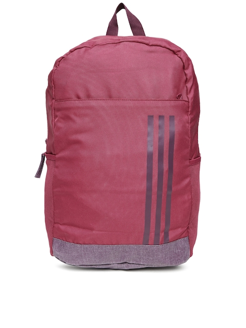 Adidas Unisex Burgundy A.Classic M 3S Solid Backpack  available at myntra for Rs.1079