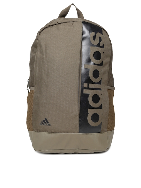 Adidas Unisex Olive Green Brand Logo Backpack  available at myntra for Rs.1079