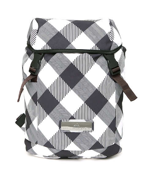 Stella McCartney by ADIDAS Women White & Black Geometric Backpack