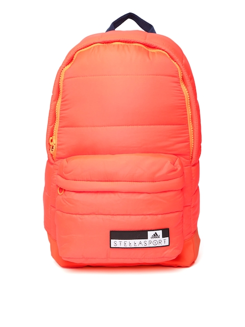 Stellasport by Adidas Women Neon Orange SC BP1 Solid Backpack  available at myntra for Rs.2999