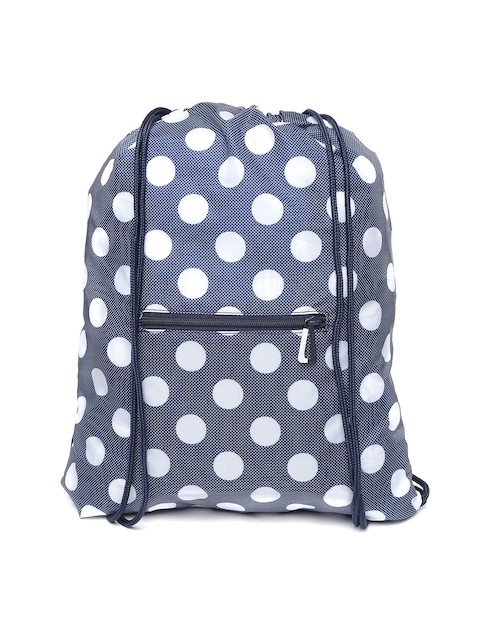 Adidas NEO Women Navy Blue & Off-White GS Daily Geometric Backpack  available at myntra for Rs.539