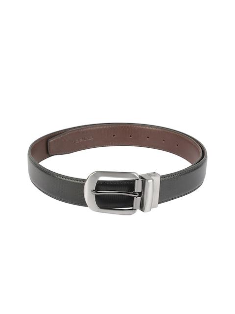CHISEL Men Black & Brown Textured Reversible Belt