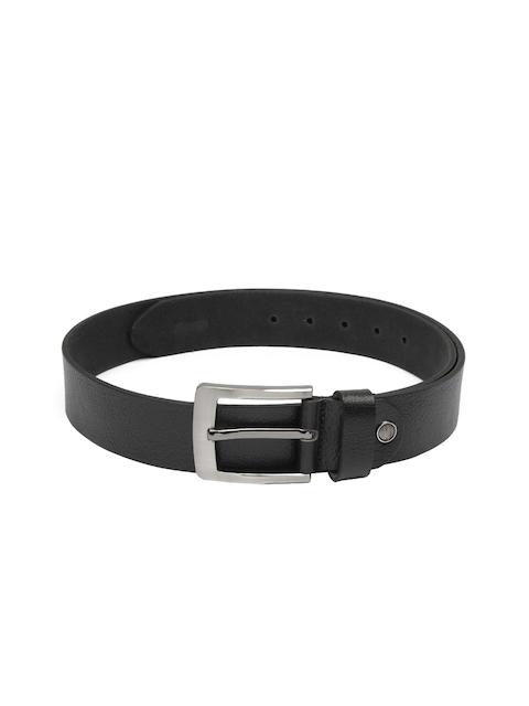 CHISEL Men Black Solid Leather Belt