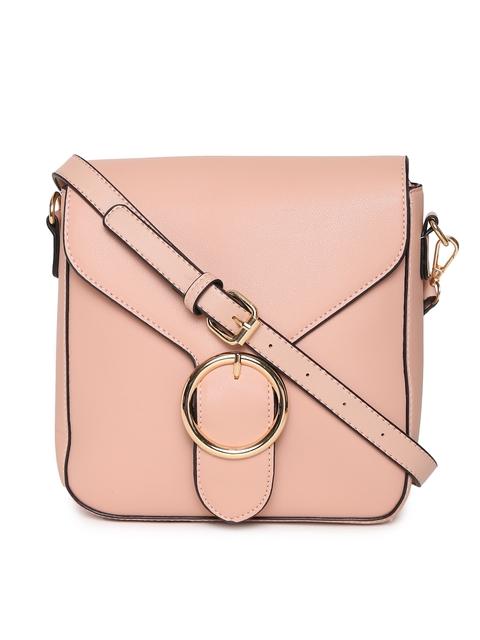 DressBerry Pink Solid Sling Bag
