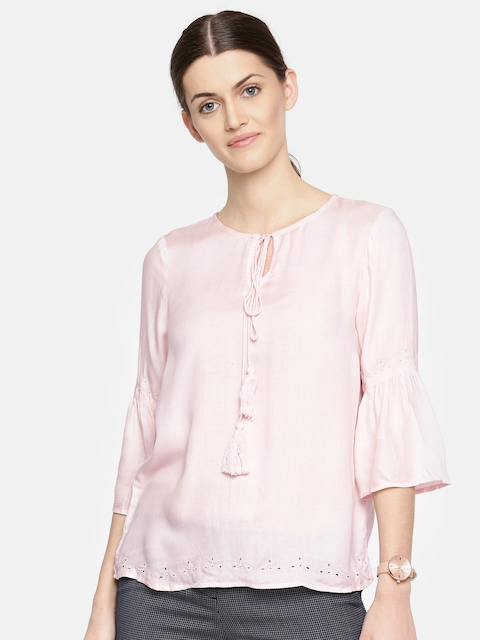 Arrow Woman Women Pink Solid Top