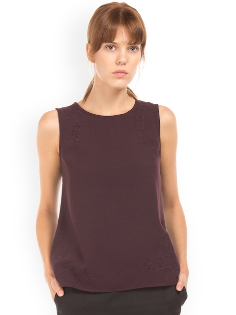 Arrow Woman Purple Solid Top