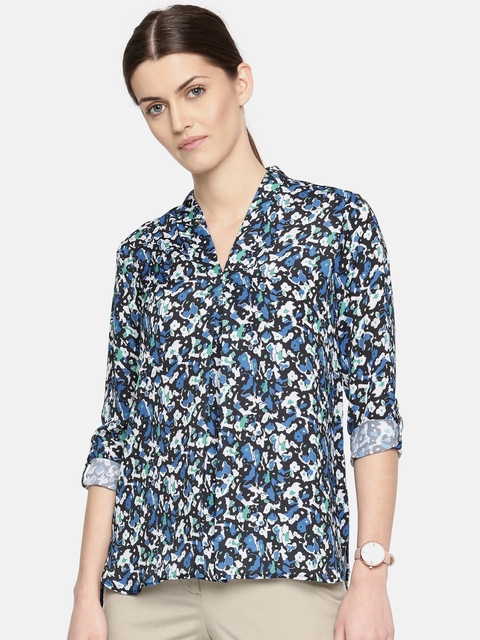 Arrow Woman Women Blue Printed Top