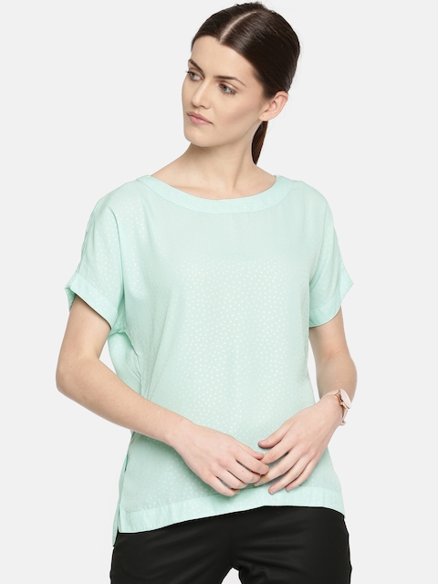 Arrow Woman Women Sea Green Printed Top