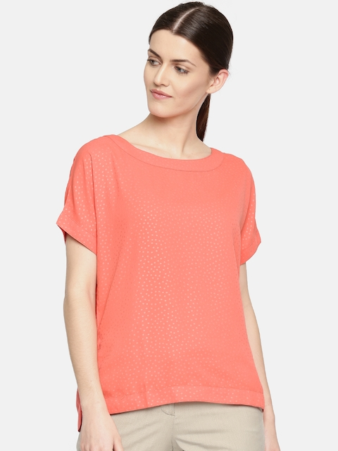 Arrow Woman Women Coral Printed Top