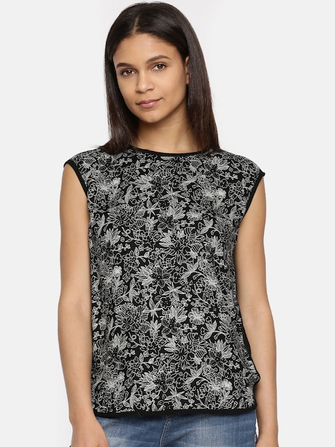 Arrow Woman Women Black Printed Top