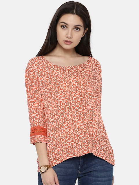 Arrow Woman Orange Printed Top