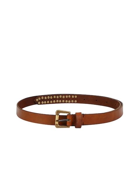 Aditi Wasan Women Tan Brown Solid Belt