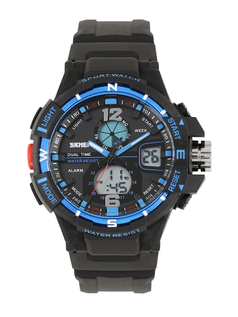 Skmei Men Black Analogue and Digital Watch 1040BKBL