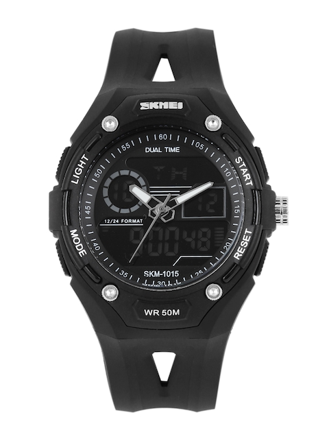 Skmei Men Black Analogue and Digital Watch 1015BLK
