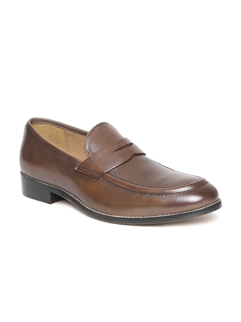 HATS OFF ACCESSORIES Men Brown Leather Semiformal Slip-Ons