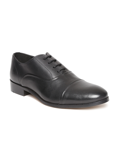 HATS OFF ACCESSORIES Men Black Leather Oxfords