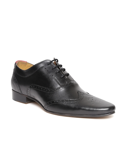 HATS OFF ACCESSORIES Men Black Leather Brogues