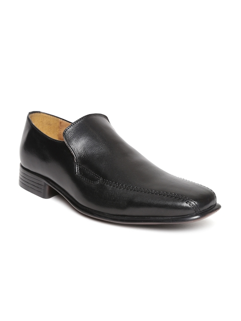 HATS OFF ACCESSORIES Men Black Leather Formal Slip-Ons