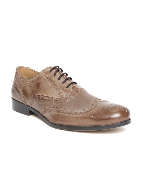 HATS OFF ACCESSORIES Men Brown Leather Formal Brogues