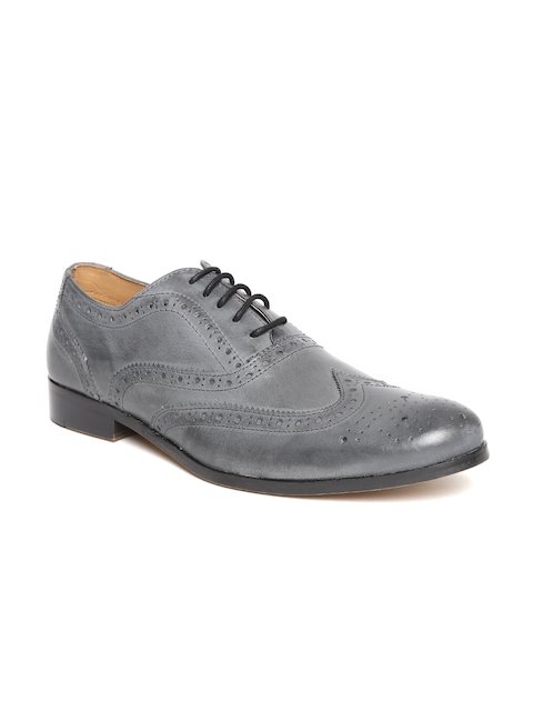 HATS OFF ACCESSORIES Men Navy Leather Formal Brogues