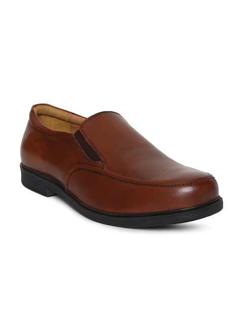 HATS OFF ACCESSORIES Men Brown Leather Semiformal Slip-Ons