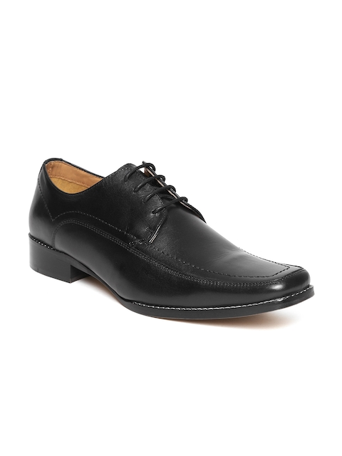 HATS OFF ACCESSORIES Men Black Leather Formal Derbys