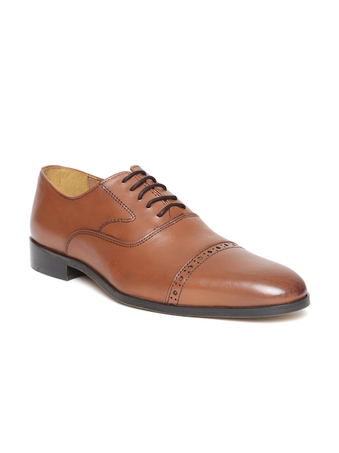 HATS OFF ACCESSORIES Men Brown Leather Oxfords