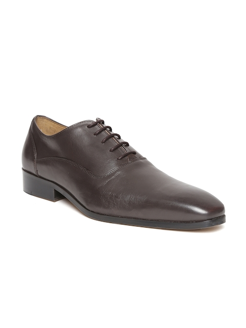HATS OFF ACCESSORIES Men Coffee Brown Leather Oxfords