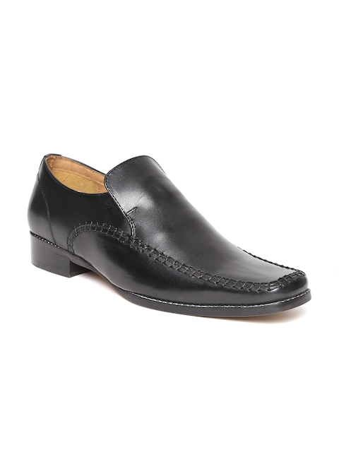 HATS OFF ACCESSORIES Men Black Leather Semiformal Slip-Ons