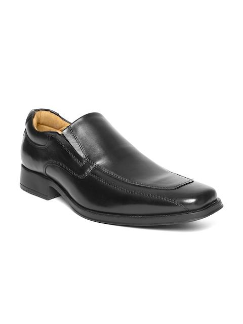 HATS OFF ACCESSORIES Men Black Leather Semiformal Slip-Ons