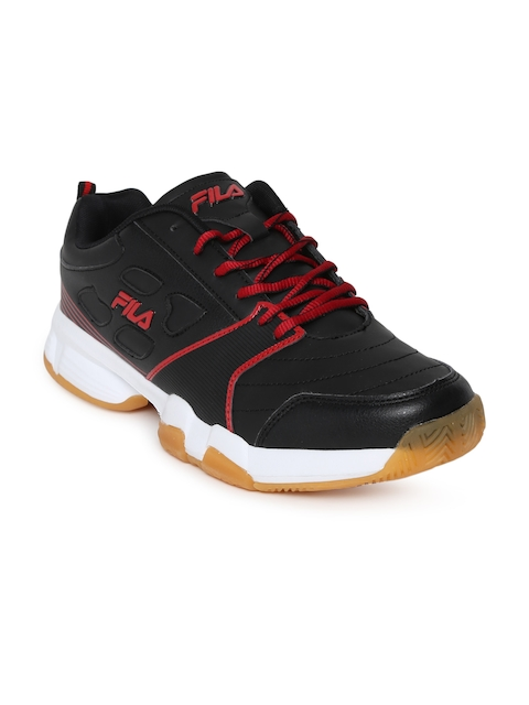 FILA Men Black Becker II Tennis Shoes
