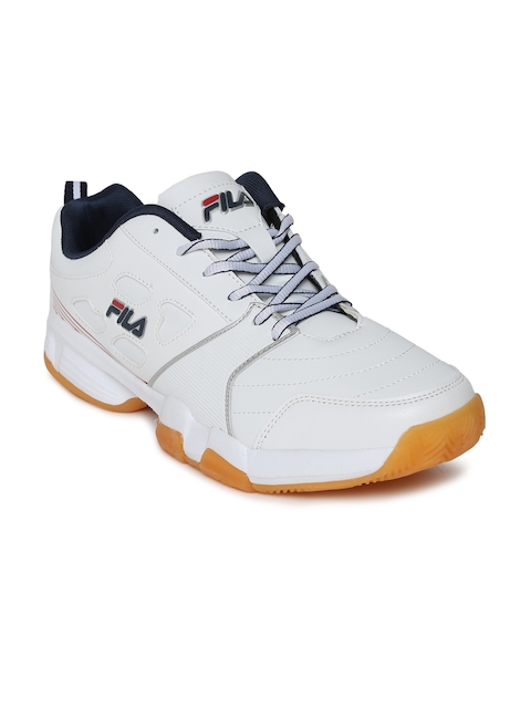 FILA Men White Becker II Tennis Shoes