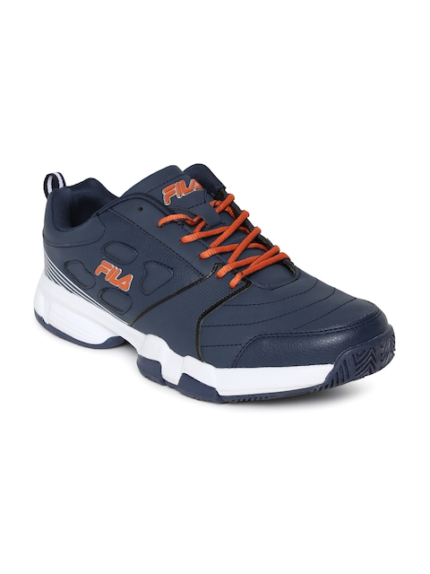 FILA Men Navy Blue Becker II Tennis Shoes
