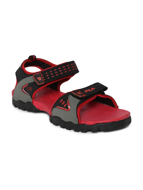 Fila Men Grey & Black Stefan Sports Sandals  available at myntra for Rs.679