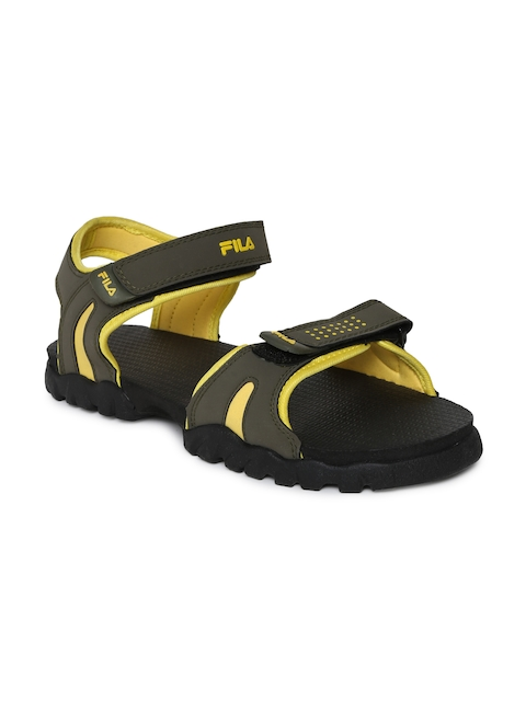 Fila Men Olive Green Max Sports Sandals  available at myntra for Rs.519