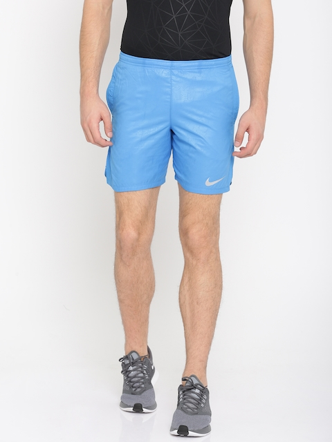 Nike Men Blue Solid Regular Fit AS M NK Sports Shorts