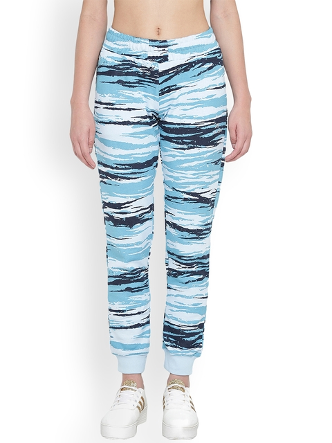 Alcis Women Blue Printed Joggers