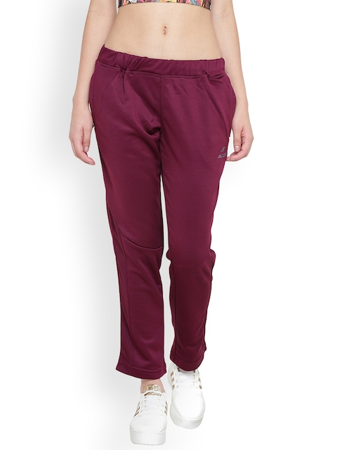 Alcis Women Burgundy Track Pants